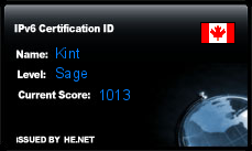IPv6 Certification Badge for kint