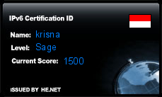 IPv6 Certification Badge for krisna