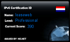 IPv6 Certification Badge for leaseweb
