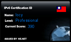 IPv6 Certification Badge for locy