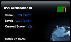 IPv6 Certification Badge for lumawm