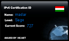IPv6 Certification Badge for madar