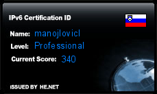 IPv6 Certification Badge for manojlovicl