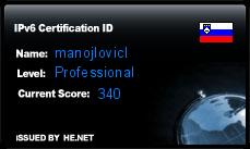 IPv6 Certification Badge for manojlovicl