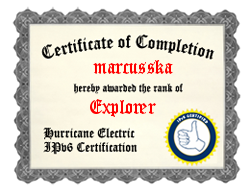IPv6 Certification Badge for marcusska