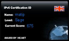 IPv6 Certification Badge for matip