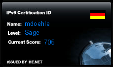 IPv6 Certification Badge for mdoehle