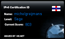 IPv6 Certification Badge for michelgreijmans