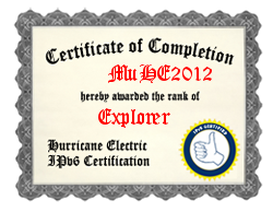 IPv6 Certification Badge for muhe2012