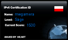 IPv6 Certification Badge for mwgamera