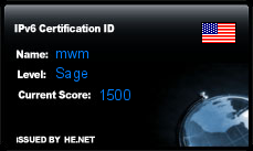 IPv6 Certification Badge for mwm