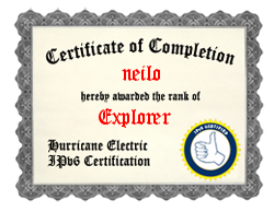IPv6 Certification Badge for neilo