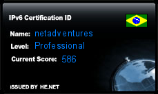 IPv6 Certification Badge for netadventures