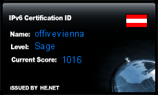 IPv6 Certification Badge for offivevienna