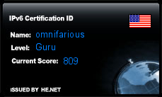 IPv6 Certification Badge for omnifarious
