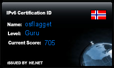 IPv6 Certification Badge for osflagget