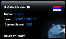 IPv6 Certification Badge for pajaja