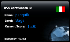 IPv6 Certification Badge for pasquik