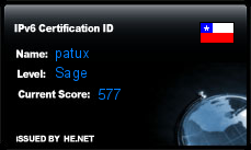 IPv6 Certification Badge for patux