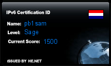 IPv6 Certification Badge for pb1sam