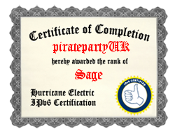 IPv6 Certification Badge for piratepartyuk