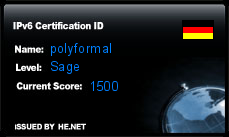 IPv6 Certification Badge for polyformal