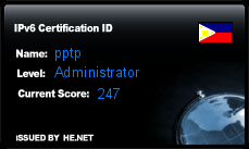 IPv6 Certification Badge for pptp