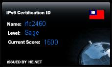 IPv6 Certification Badge for     rfc2460