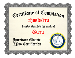 IPv6 Certification Badge for rhoekstra