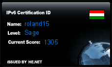 IPv6 Certification Badge for roland15