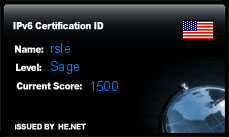 IPv6 Certification Badge for rsle