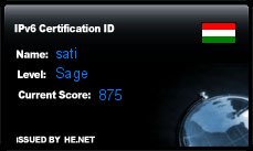 IPv6 Certification Badge for sati