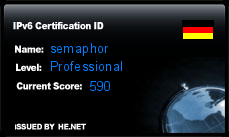 IPv6 Certification Badge for semaphor.