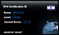 IPv6 Certification Badge for shaulliv