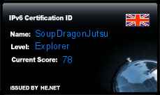IPv6 Certification Badge for soupdragonjutsu