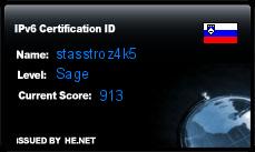 IPv6 Certification Badge for stasstroz4k5
