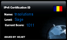IPv6 Certification Badge for tnsolutions