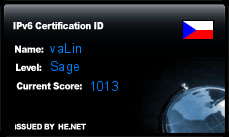 IPv6 Certification Badge for vaLin
