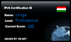 IPv6 Certification Badge for viroge