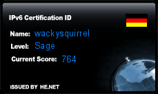 IPv6 Certification Badge for wackysquirrel
