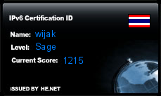 IPv6 Certification Badge for wijak