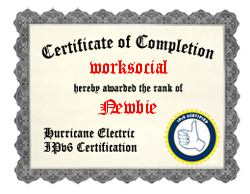 IPv6 Certification Badge for worksocial