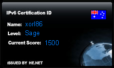 IPv6 Certification Badge for xorl86