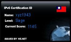 IPv6 Certification Badge for xyz1943