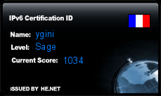 IPv6 Certification Badge for ygini