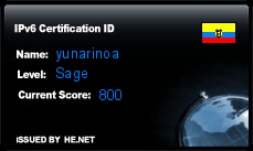 IPv6 Certification Badge for yunarinoa
