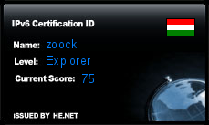 IPv6 Certification Badge for zoock