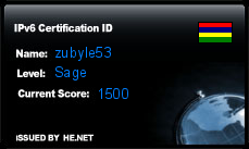 IPv6 Certification Badge for zubyle53