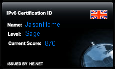 IPv6 Certification Badge for JasonHome