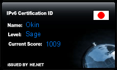 IPv6 Certification Badge for Okin
